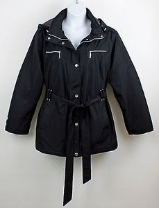 Other Tamer 3x Black Removable Hood Belted Snapzip Front Puffy B86 Jacket