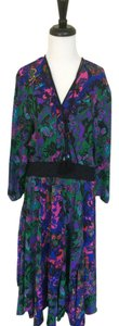 Diane Freis Ltd. Georgette Floral Multicolor Dress
