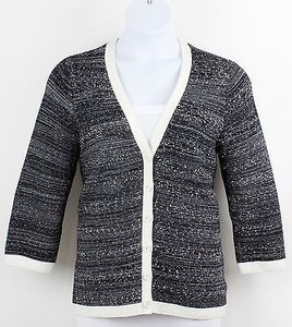 Liz Claiborne Black White Sweater