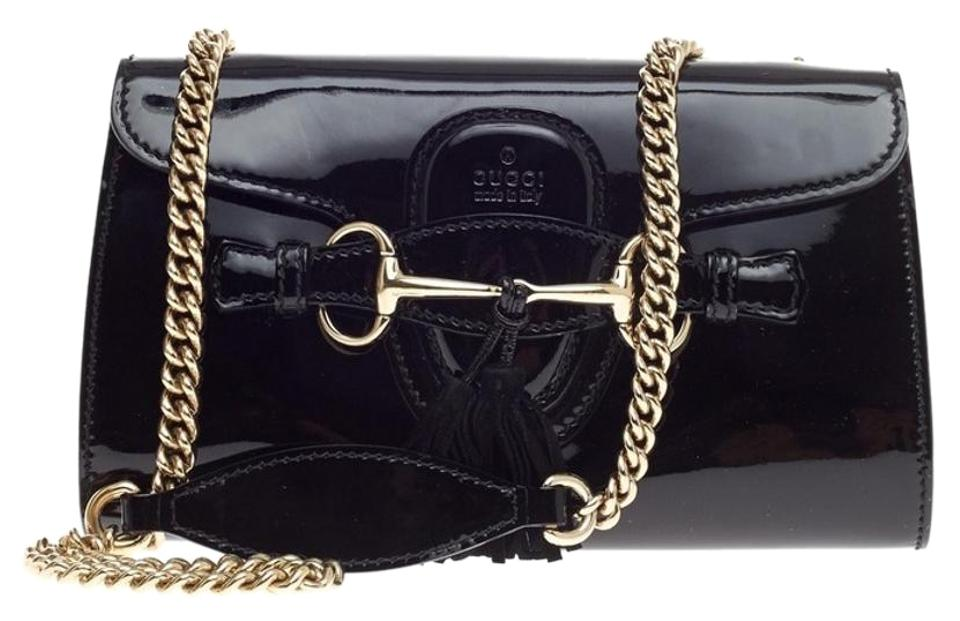 2ff8c074a42c Gucci Flap Emily Chain Strap Small Patent Leather Shoulder Bag - Tradesy