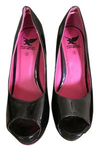 Shiekh Black and Pink Pumps