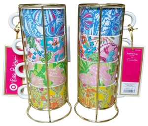 Lilly Pulitzer NWT Lilly Pulitzer for Target 1 Set of 4 Espresso Mugs / Cups