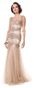Colors Dress Sequin Lace Sleeves Gold Dress