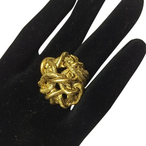 Other Satin Hamilton Gold Rope Matt Gold Antique Articulated Ring