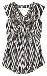 Anthropologie Archivel Collection Heart Top Black, white, pink