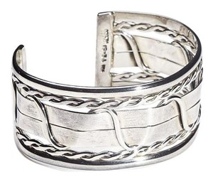 Condemned to Be Free Sterling Silver Intertwining Swirls Cuff