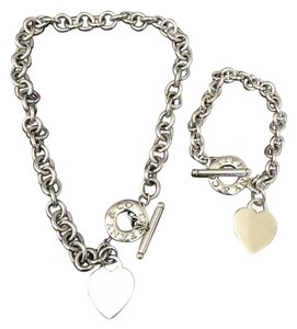 Tiffany & Co. Set Toggle Heart Bracelet & Necklace