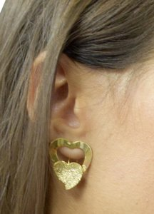 losangelesbeads Gold Filled Hollow Hearts Post Back Earrings