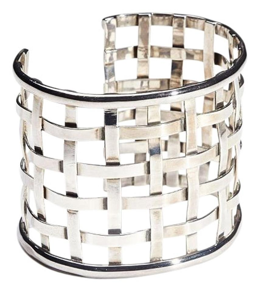 fa905836bab Condemned to Be Free Silver Sterling Lattice Basketweave Cuff Bracelet