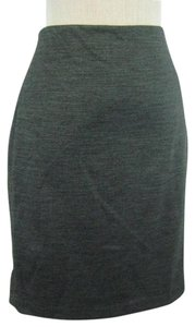 Ann Taylor Pencil Stretch Wool Skirt Gray