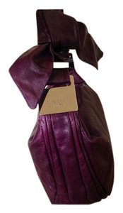 Badgley Mischka Satchel in Deep Plum
