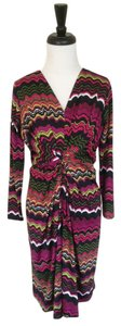 Leota short dress Multicolor New York Magenta Pattern on Tradesy