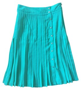 Ted Baker Pleated Gold Skirt Green