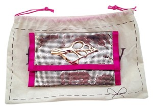 $PRICED REDUCED$ Felix Rey Gold Gold/Hot Pink Clutch