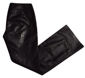 Cuero Leather Straight Pants Black