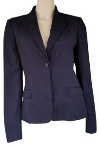 Elie Tahari Striped Jacket Black Blazer