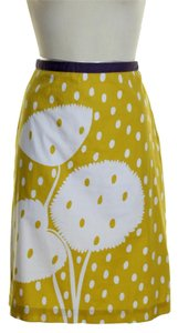 Boden Floral Mini Skirt Yellow
