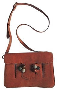 Fendi Suede Cross Body Shoulder Bag