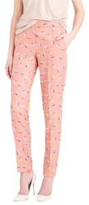J.Crew Slim Floral Straight Pants Peach