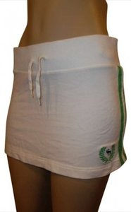 Abercrombie & Fitch Mini Skirt White with green stripes
