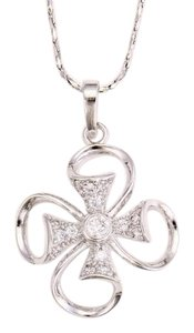 losangelesbeads Rhodium Plate Cross with CZ Clear Stone