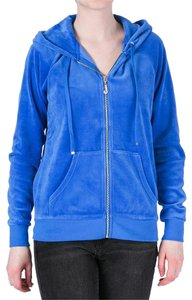 Juicy Couture Hoodie Xs Velour Blue Jacket
