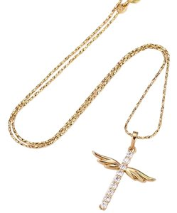 losangelesbeads Gold Filled 18k Cross with CZ Clear stone