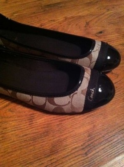 Coach Brown/Khaki Flats