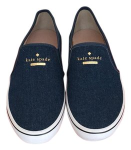 Kate Spade Blue Denim, White & Gold Athletic
