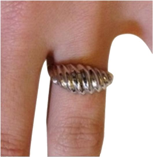 Unknown Sterling Silver Dome Seashell Ring, Size 6