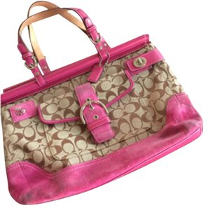 Coach Tote in Pink, Tan