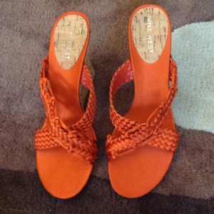 Nine West Red/ orange Wedges