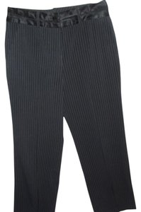 Larry Levine Pinstripe Tuxedo Stripes Trouser Pants black