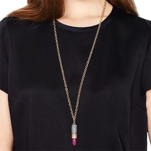 Kate Spade Kiss & Make Up Lipstick Pendant Necklace