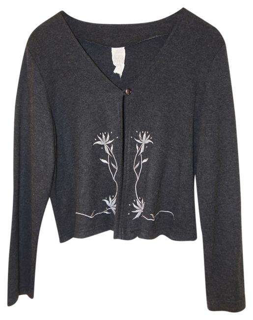 Other Cardigan White Flower Sweater