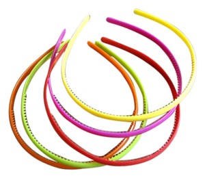 Urban Outfitters 5 Pcs Plastic Candy Colors Headband Skinny Thin Skinny Plastic Hair Band Hairpin
