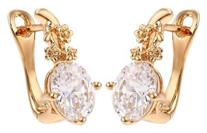 losangelesbeads CZ Setting Fashion 18K Gold Filled Glamorous Lever Back Earrings