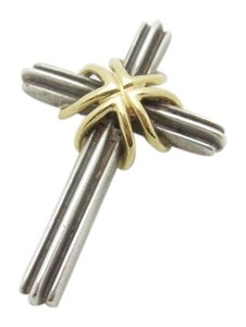 Tiffany & Co. T I F F A N Y & C O. CROSS. STERLING SILVER, with 18k GOLD