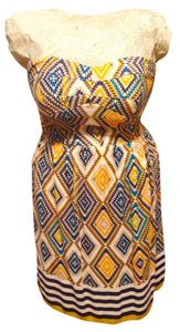 Charlotte Russe short dress Yellow and Navy Summer on Tradesy