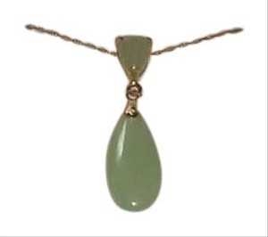 Macy's Macy's 10 Karat Gold Jade Necklace