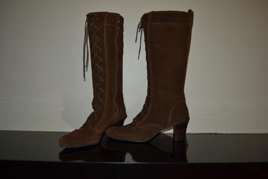 Adrienne Vittadini Chocolate Suede Boots