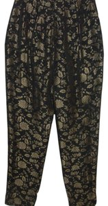 Dana Buchman Metallic Dress Evening Trouser Pants black & bronze