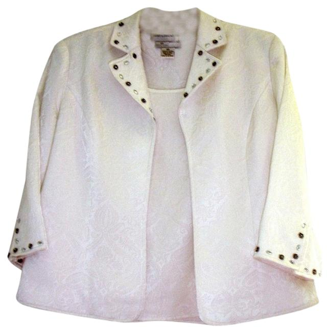 Draper's and Damon's Dressy Holidays Crusing New Year's White Brocade Jacket and Shell Jacket