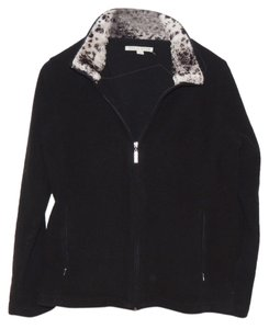 Carolyn Taylor Zip-up Animal Print Sweater