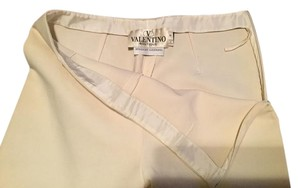 Valentino Boutique Bergdorf Goodman Ivory Straight Pants Winter White
