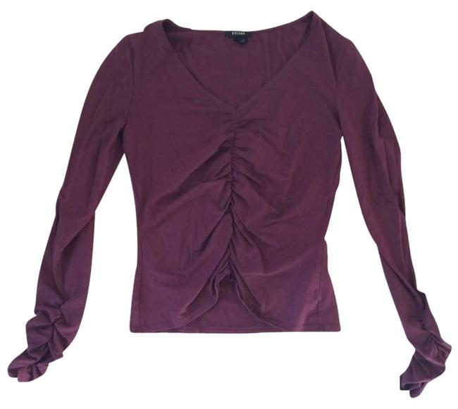Preload https://item1.tradesy.com/images/escada-burgundy-blouse-size-4-s-1514725-0-0.jpg?width=400&height=650