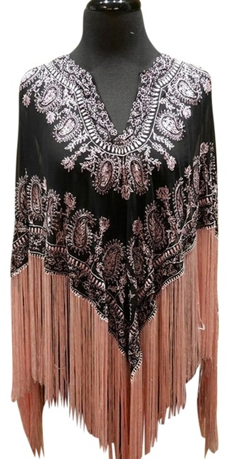 Preload https://item4.tradesy.com/images/blackpink-beaded-and-embroidered-fringe-ponchocape-size-os-one-size-1514738-0-0.jpg?width=400&height=650