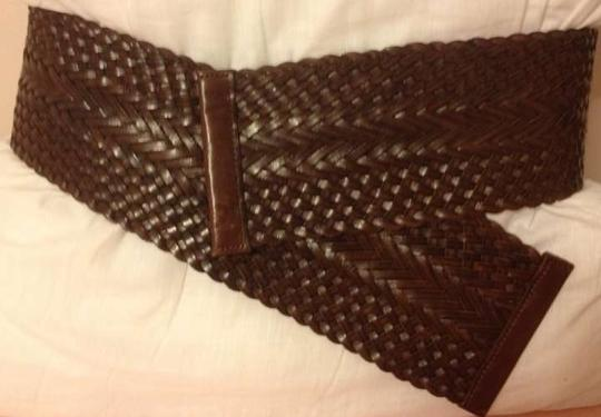 Club Monaco Wide woven leather belt by Club Monoco