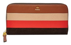 Fossil Gifting Leather Patchwork Zip Clutch