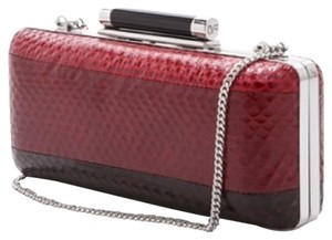 Diane von Furstenberg Red And Black Clutch